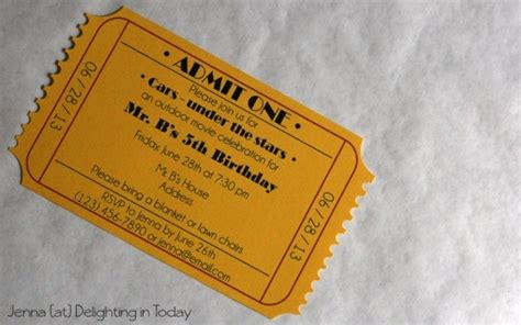 diy tickets template ticket invitation maker crate
