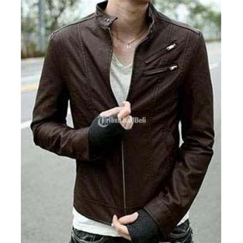 Jaket Kulit Pria Korea Style jaket kulit pria terbaru korea style leather jacket coklat
