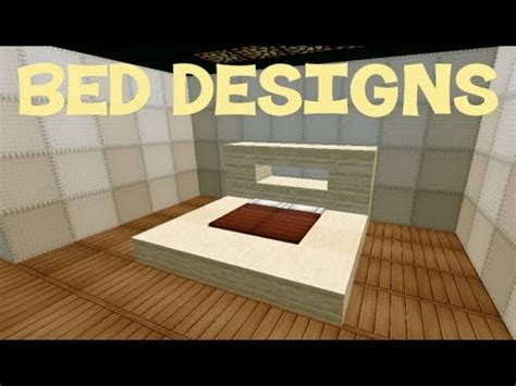 How To Make A Bed Style by Minecraft Bed Designs