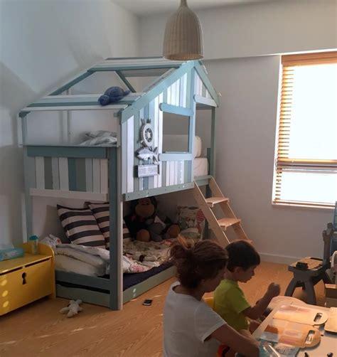 Ikea Mydal Bunk Bed Make An Indoor Playhouse Bunk Bed Ikea Mydal Hack