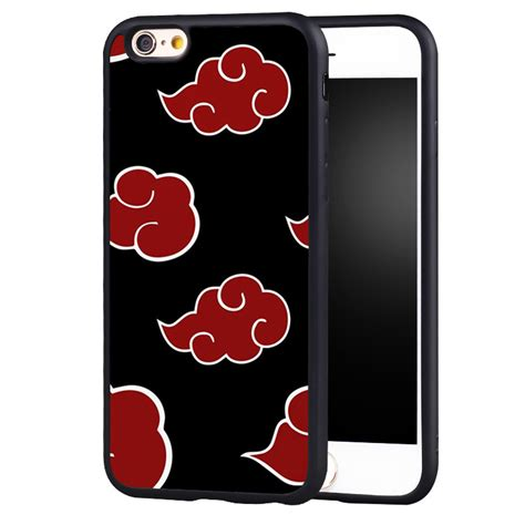 Monochrome Softcase For Iphone 4 5 Se 6 6s 6 akatsuki clan s cloud symbol soft tpu phone for iphone 6 6s plus se 5 5s 5c 4 4s