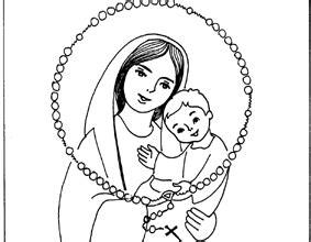 dibujo de vidriera de la virgen mar繝箝a con jes繝篌s para recursos catequ 233 ticos para el mes de mar 237 a catequesis de