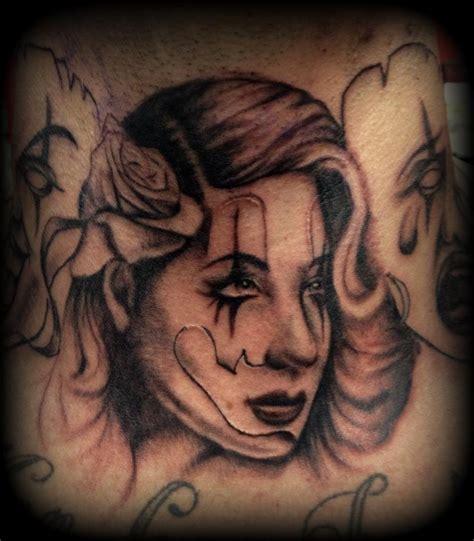 gangster clown tattoos gangsta clown by slabzzz on deviantart