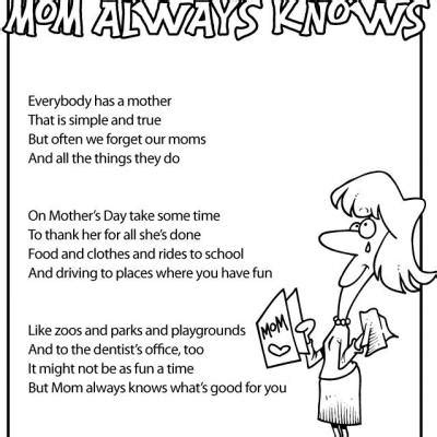 mother s day kids poems {free printable} | tip junkie