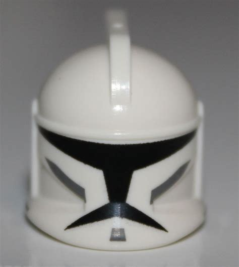 How To Make A Clone Trooper Helmet Out Of Paper - lego wars white minifig headgear helmet clone trooper