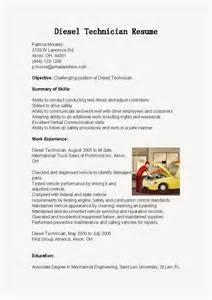 resume samples diesel technician resume sample