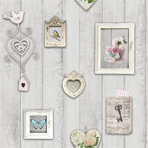 Wallpaper Stiker Motif Shabby Chic shabby chic floral wallpaper in various designs wall decor new free p p ebay