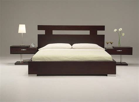 Kasur Bed Minimalis ultra modern king size bed set from wooden material feature modern home designs