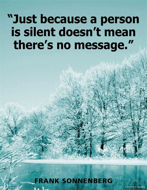 person  silent doesnt