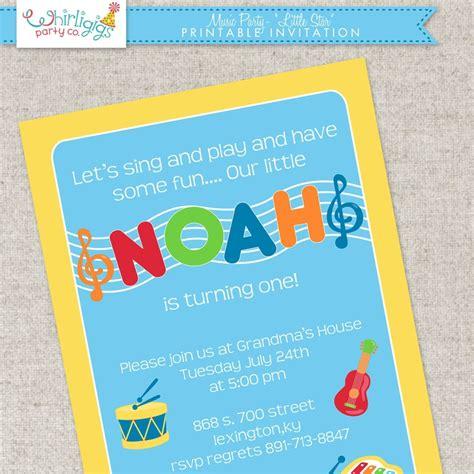 printable birthday invitations and envelopes music party invitation printable digital file or printed