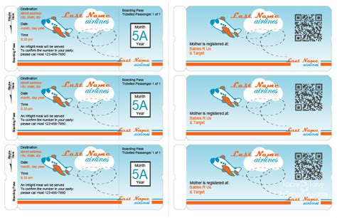 Airline Ticket Invitation Template Free Orderecigsjuice Info Airline Ticket Invitation Template Free