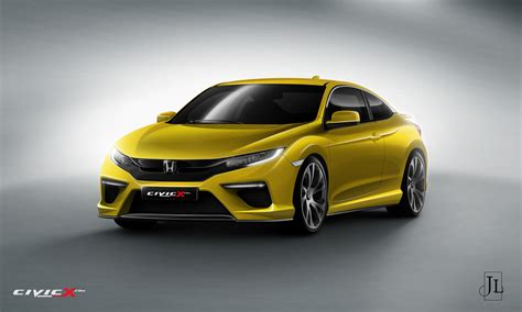 honda civic coupe 2017 2017 honda civic coupe rendered in vanilla and