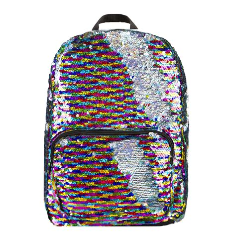 Home Decor Wholesalers by Rainbow Silver Magic Sequin Backpack
