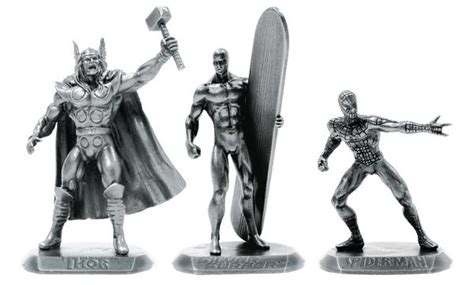 Usd Thor Silver marvel pewter figures series 1 spider silver