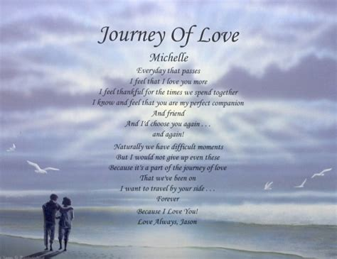 images of love journey journey of love poem personalized gift for boyfriend