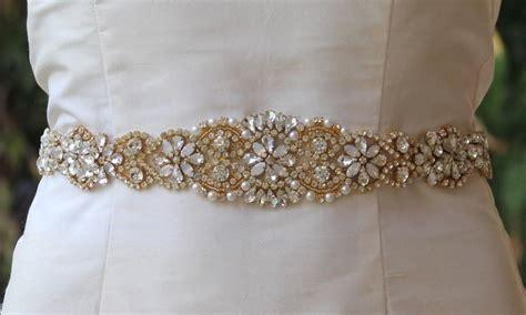gold bridal sash white opal gold sash milk opal