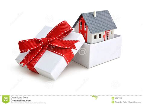 house in a box house in gift box stock photo image 42977990