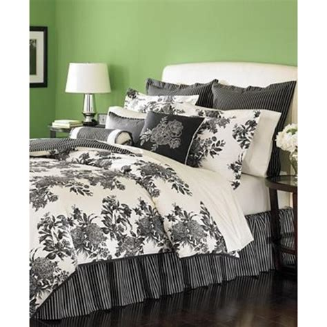 black and ivory bedding martha stewart new midnight trellis black ivory comforter