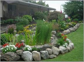 Rock Garden Borders Boulder Retaining Wall Retaining Walls And Fence On