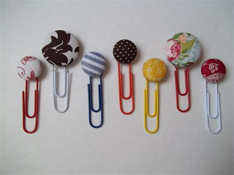 Handmade Bookmarks Ideas - handmade series button bookmarks quiver