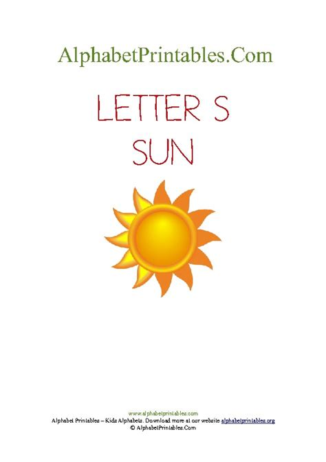 sun lettere printable alphabet pictures a to z alphabet printables org
