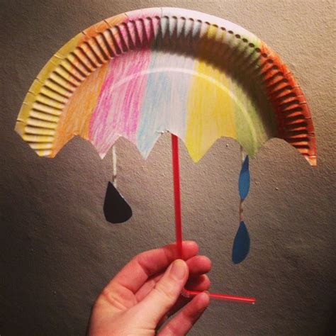 How To Make Umbrella With Paper Plate - craft paper plate umbrella diy crafts that i