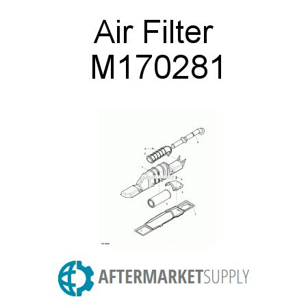 m170281 air filter fits john deere | aftermarket.supply