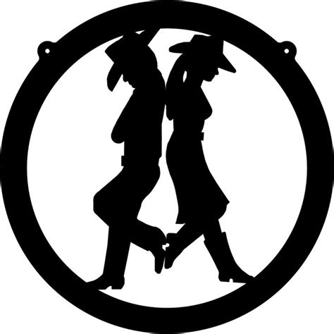 cowboy and cowgirl silhouette 1000 images about cowboy on pinterest clip art happy