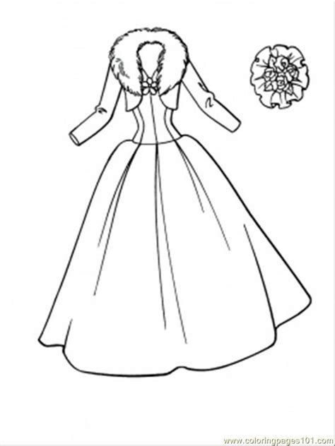 Dress Coloring Page Coloring Home Wedding Coloring Pages To Print