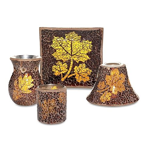 bathroom candles and accessories yankee candle 174 leaf mosaic collection candle accessories bed bath beyond