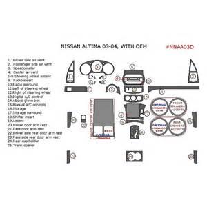 Nissan Altima 03 Parts Remin 174 Nissan Altima Sedan 2003 2004 Dash Kit