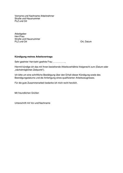 Zustimmung Musterschreiben K 252 Ndigung Arbeitsvertrag Arbeitnehmer Muster Kostenlos Yournjwebmaster