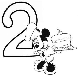 minnie mouse ears coloring pages minnie mouse and birthday cake number 2 coloring page