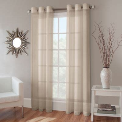 crushed sheer voile curtains crushed voile grommet top sheer window curtain panel bed