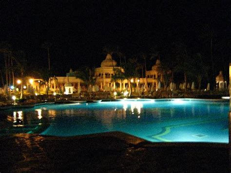 pool at night the pool at night picture of hotel riu palace punta cana