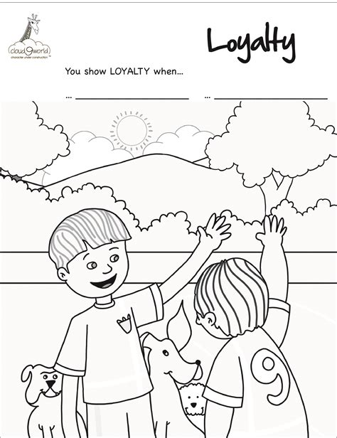color of loyalty coloring books cloud9world