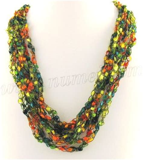 free pattern ladder yarn necklace free crochet pattern ladder ribbon necklace pattern 1