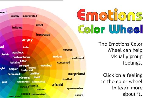 colors and feelings chart identify emotions daily planit