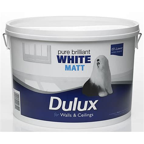Dulux Bathroom Paint Matt by Dulux Matt Emulsion White 7 Litre Next Day Delivery Ebay