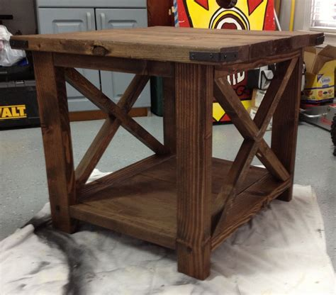 white our rustic end table diy projects