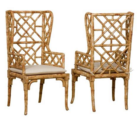 bamboo chair chinoiserie chic bamboo wing back chairs