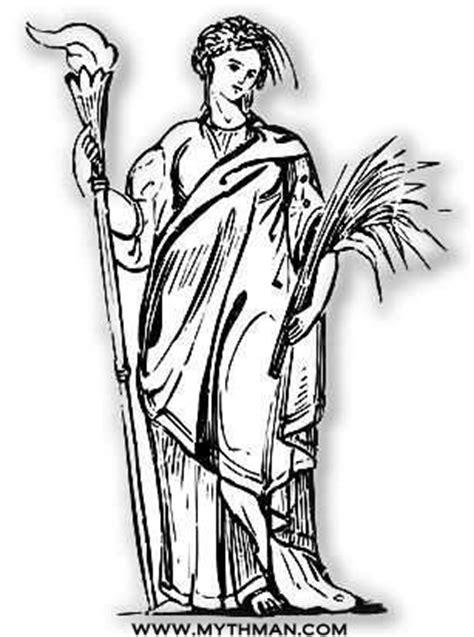harvest of demeter goddess symbol mythman s demeter