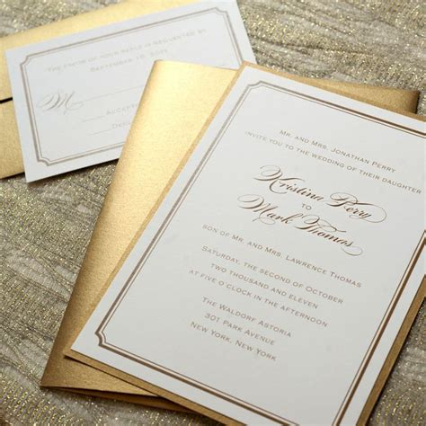 Gold Wedding Invitations by 25 Best Ideas About Gold Wedding Invitations On