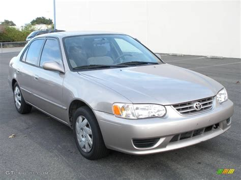 2001 Toyota Corolla Le 2001 Sandrift Beige Metallic Toyota Corolla Le 1014989