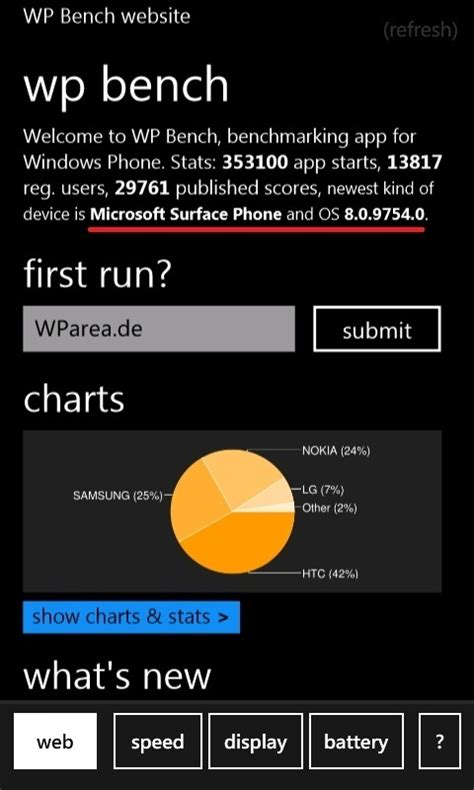 Microsoft Surface Phone microsoft surface phone taucht in wp bench statistik auf