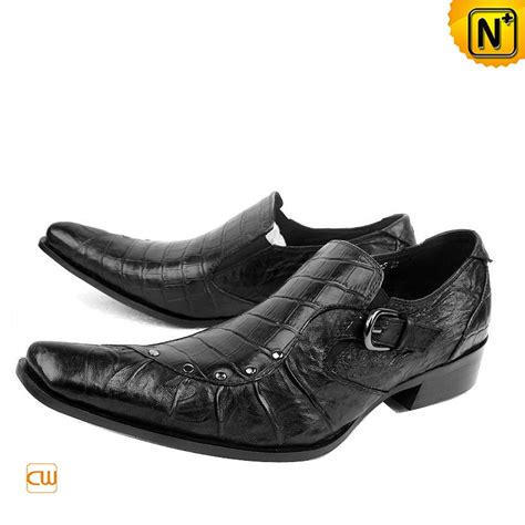 mens designer black leather dress shoes cw701105 cwmalls
