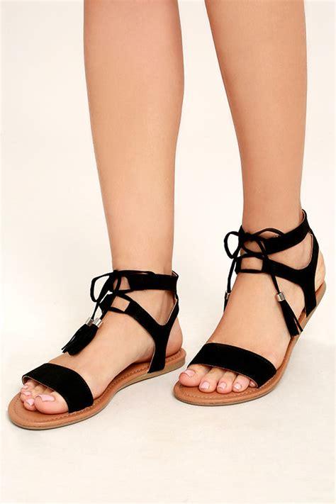 black lace sandals black sandals flat sandals lace up sandals boho