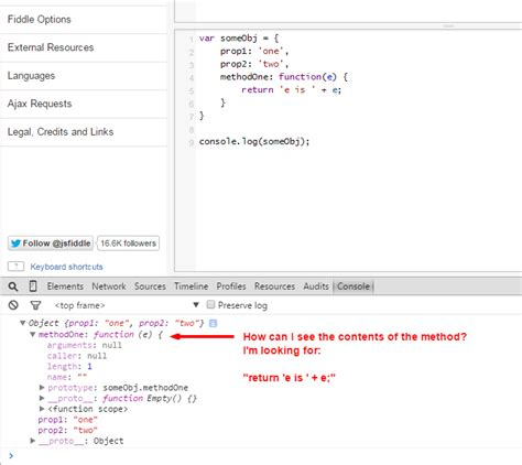 console log object javascript view a javascript method s contents in chrome