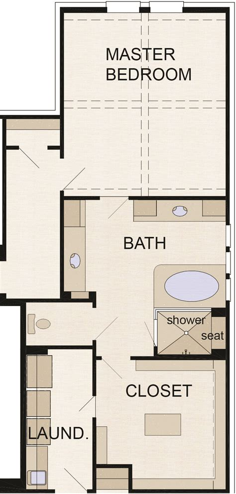 master bath floor plan except i see no need for his her design review master baths professional builder
