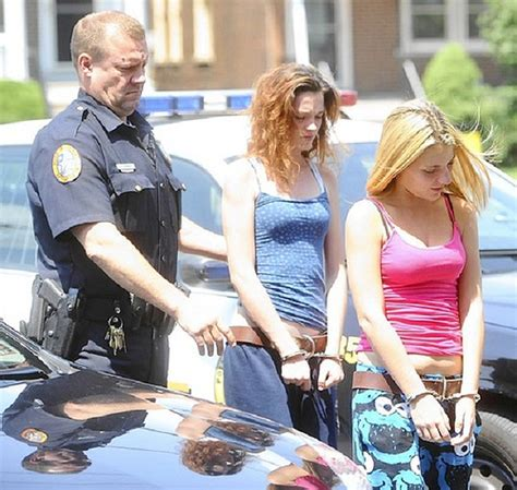 woman arrested handcuffed arrested for being cute inmate stripes flickr